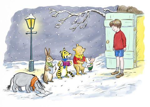 Winnie the Pooh carol singing