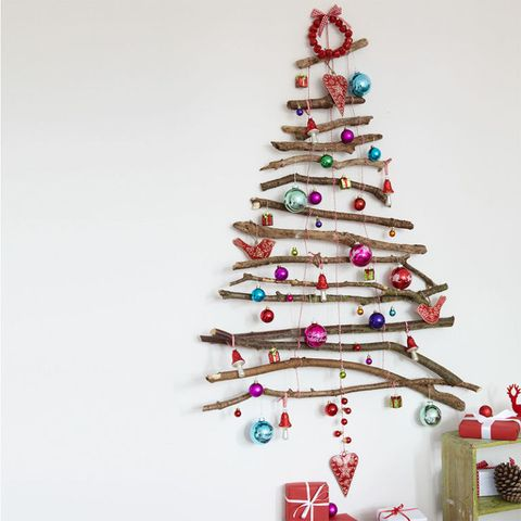 Christmas Tree Craft.How To Make A Twig Christmas Tree