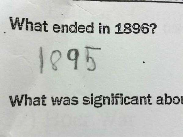 Funny exams answers