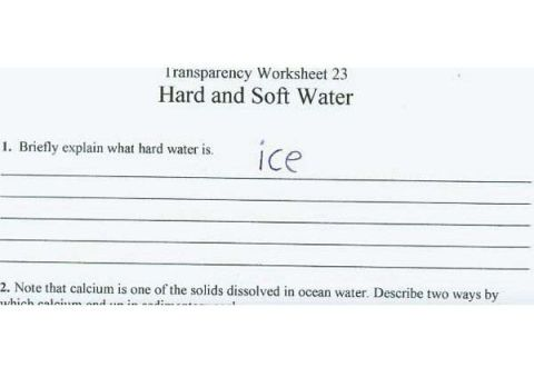 Funny exam answers ice