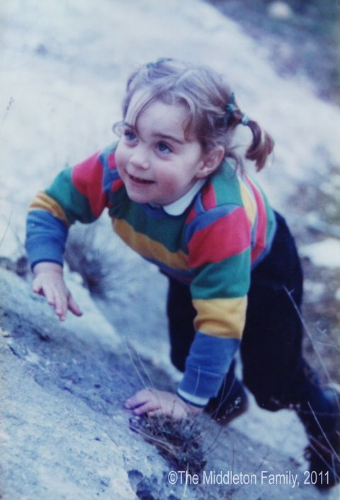 In this Handout Image provided by Clarence House www.officialroyalwedding2011.org, Kate Middleton is pictured aged three on a family holiday in the Lake District.