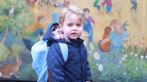 Prince George: first day at school