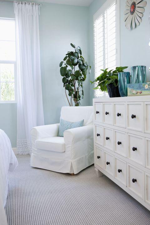 Room, Green, Interior design, Wood, Floor, Home, Flooring, Wall, White, Window covering,