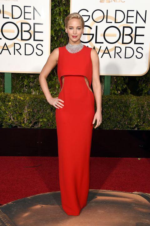 Shoulder, Dress, Red, Style, Formal wear, Fashion model, Fashion, Beauty, Waist, Neck,
