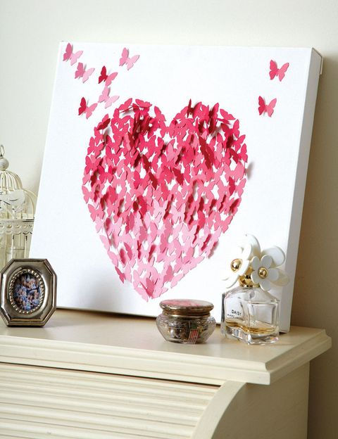 make love heart canvas wall art for valentine s day homemade