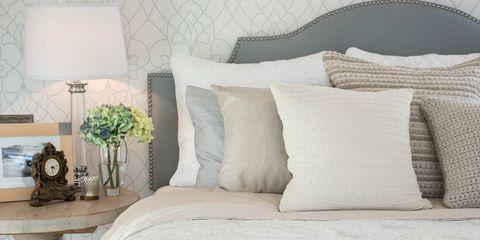 Brown, Room, Interior design, Textile, White, Wall, Furniture, Cushion, Pillow, Linens,