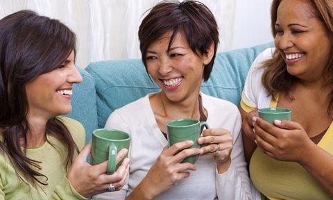 Women friends drinking tea