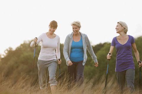 Women walking, menopause