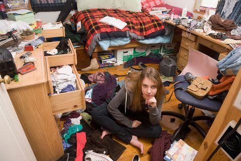 Teenager's stinky bedroom