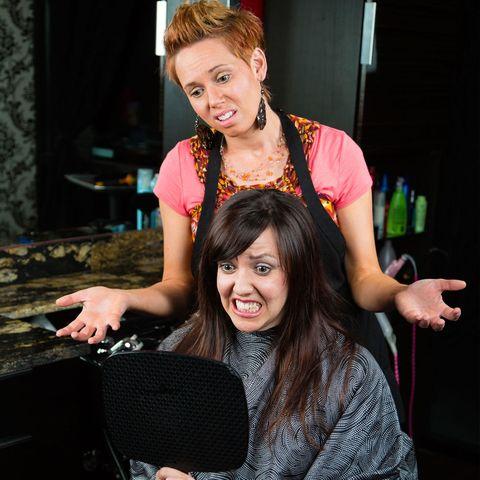 Hairdresser salon visit