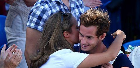Andy Murray and wife Kim Sears