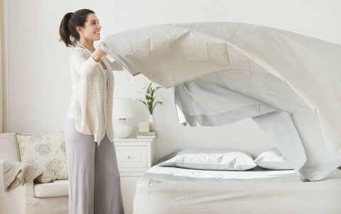 Changing the bed