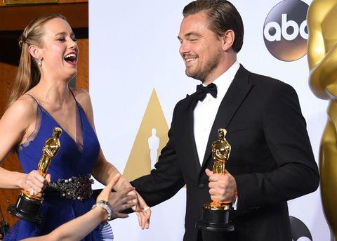 Leonardo DiCaprio Oscar Brie Larson