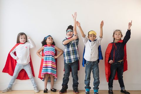 Children in costume for World Book Day