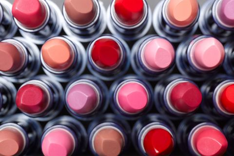 Different colours of lipstick