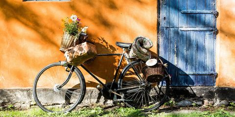 Bike outside bed and breakfast