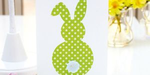 Easter bunny rear view Easter card to make