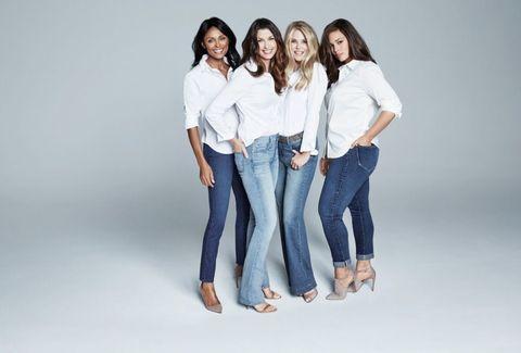 Clothing, Denim, Sleeve, Trousers, Jeans, Shoulder, Textile, Shirt, Social group, Standing,