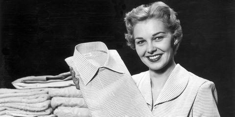1950s woman ironing
