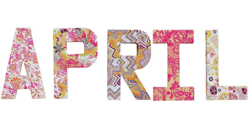 Make decoupage letters for a children\u0027s bedroom