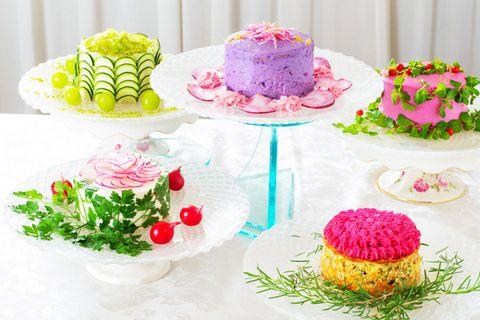 Salad cakes Japanese food