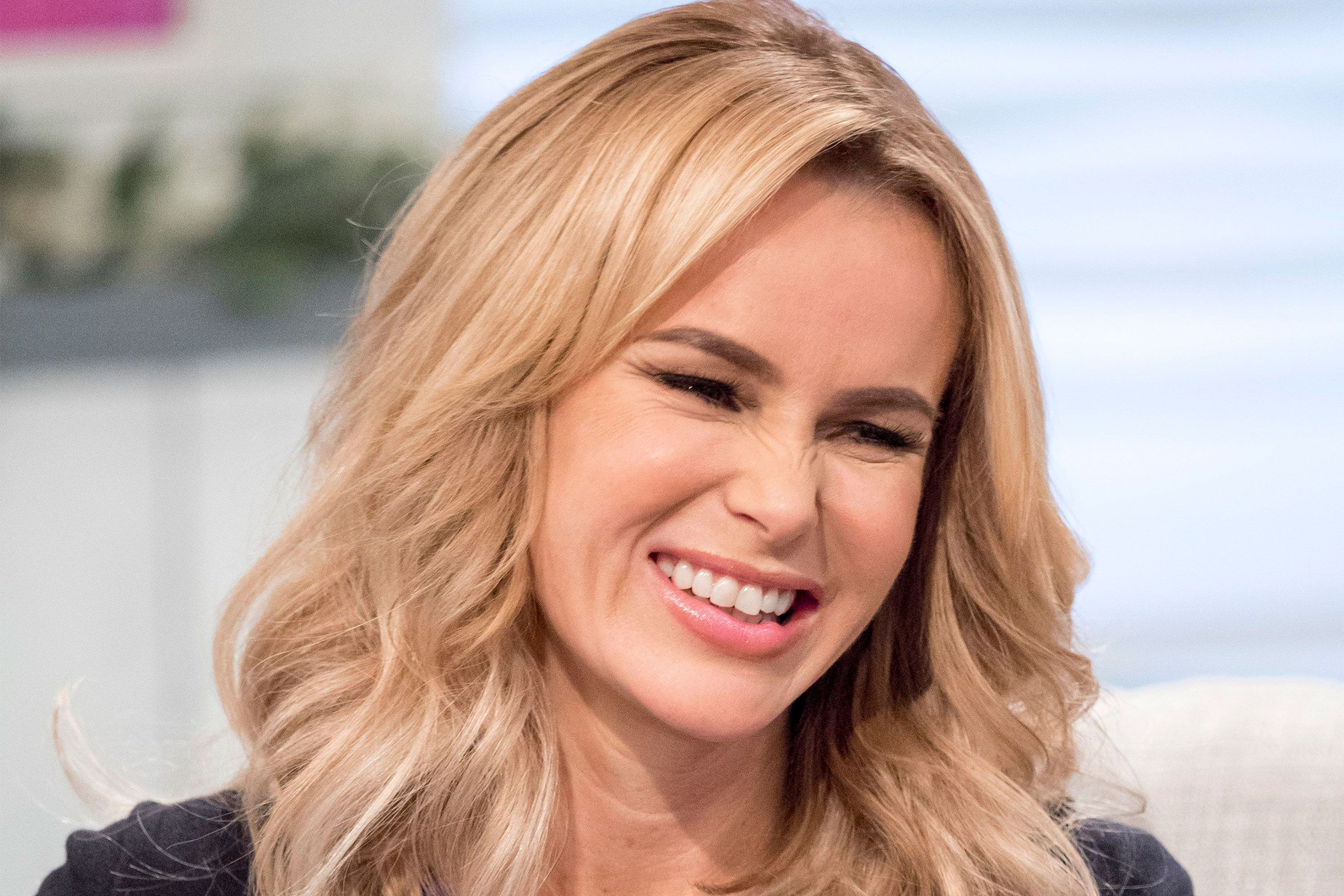 Amanda Holden Sex Video amanda holden brightens up the day in neon knitwear
