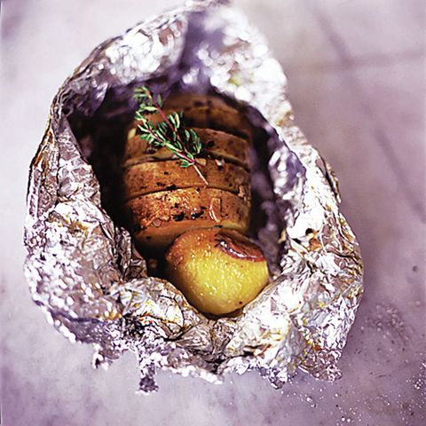 Jamie Olivers Jazzed Up Jacket Potato With Garlic Thyme And Anchovy