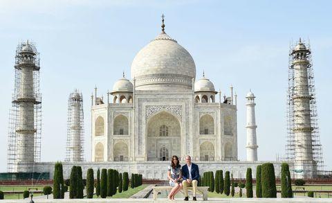 Kate and William at Taj Mahal