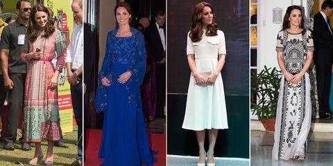 Kate Middleton dresses India tour