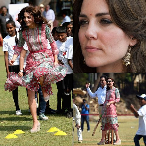 Kate Middleton dress India tour