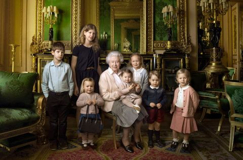 The Queen royal family portrait