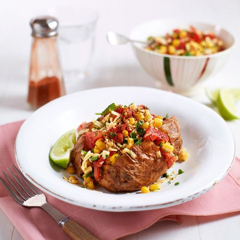Baked Potato With Spicy Mexican Salad