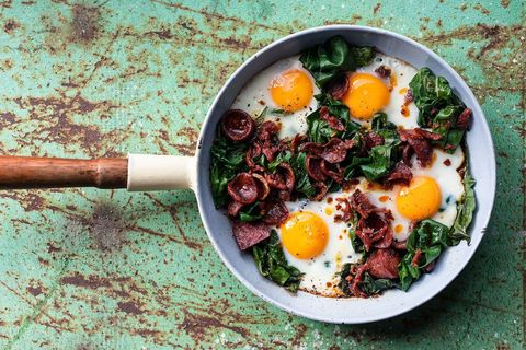 Chorizo kale eggs