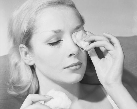 Woman eye treatment