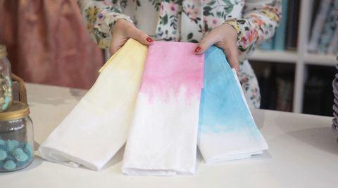 Dip dye napkins