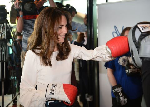 Kate Middleton boxing at the Heads Together campaign