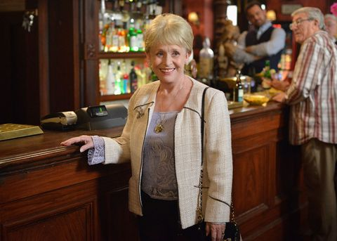 Peggy Mitchell in Eastenders Queen Vic pub