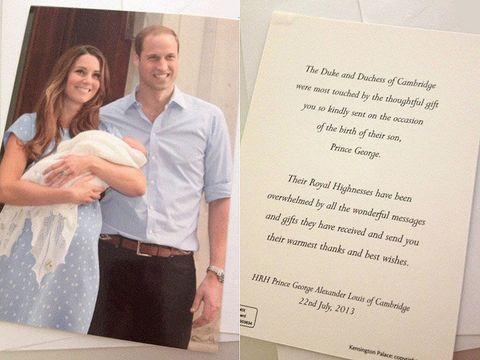 Duke And Duchess Of Cambridge Send Anniversary Thank You Cards