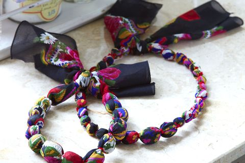 upcycle ascarf intostring necklace