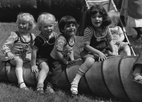 1970s children playing outdoors