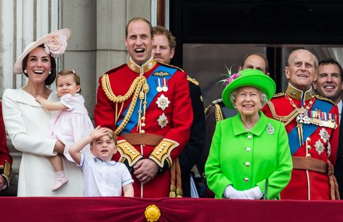 Queen balcony Trouping the Colour