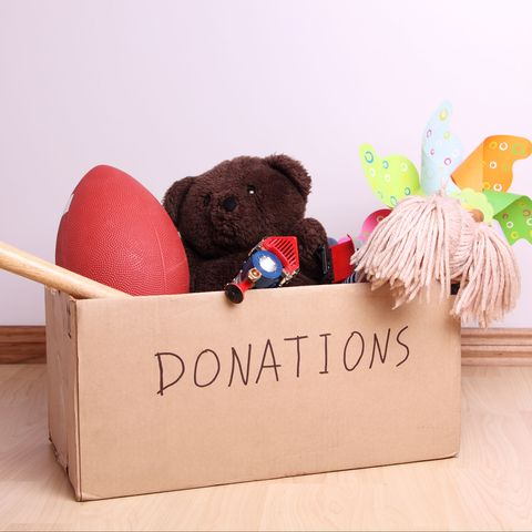 box of toys for charity