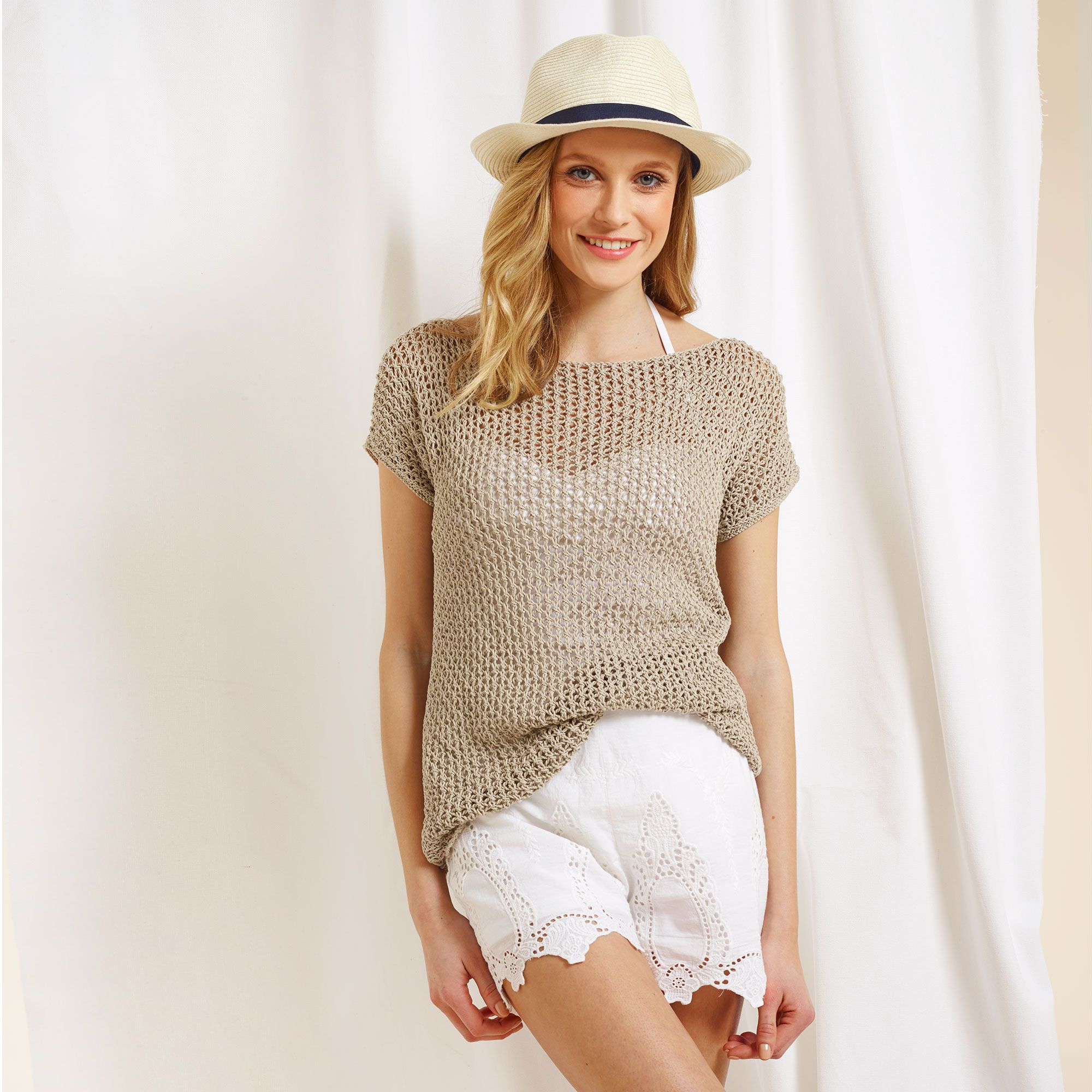 Free knitting patterns: Knit a lovely linen lace top for summer