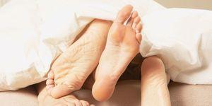Feet under bed