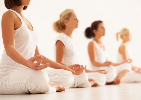 Women yoga class