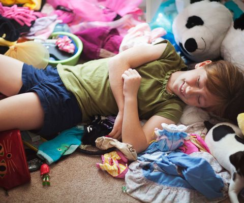 messy child's bedroom