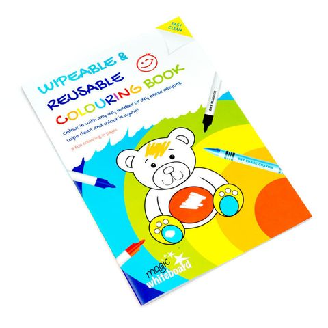 Wipeable colouring book