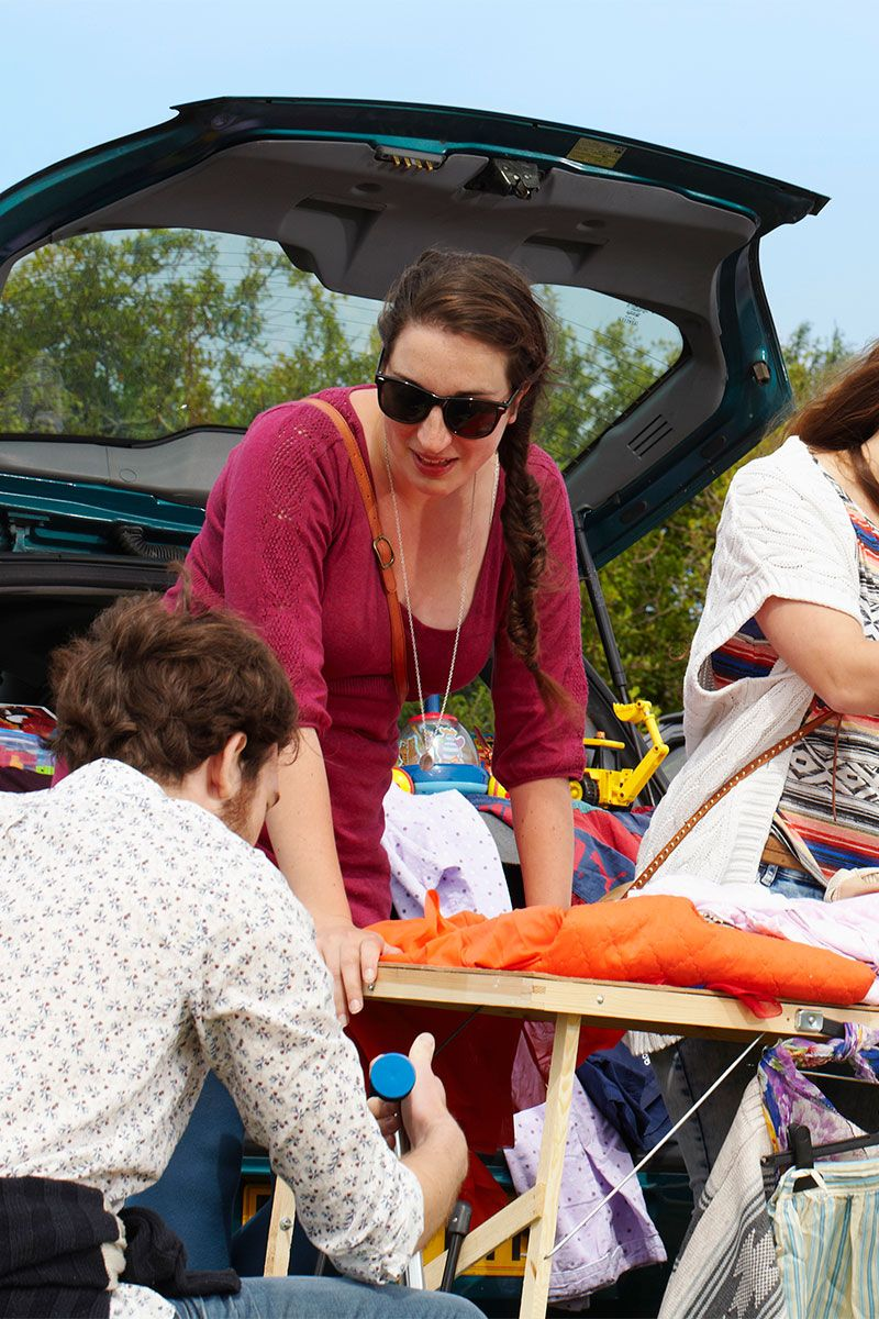Car boot sale workers