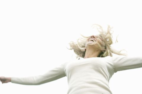 post-menopausal woman happy