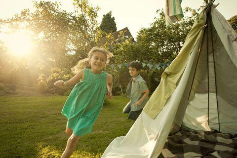 Children having fun outside